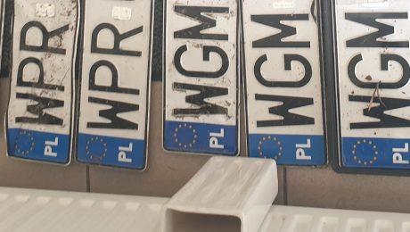 Znaleziono tablice rejestracyjne