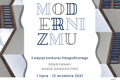 Plakat konkursu o moderniźmie