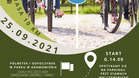 Plakat informujący o Rodzinnym Rajdzie Rowerowym